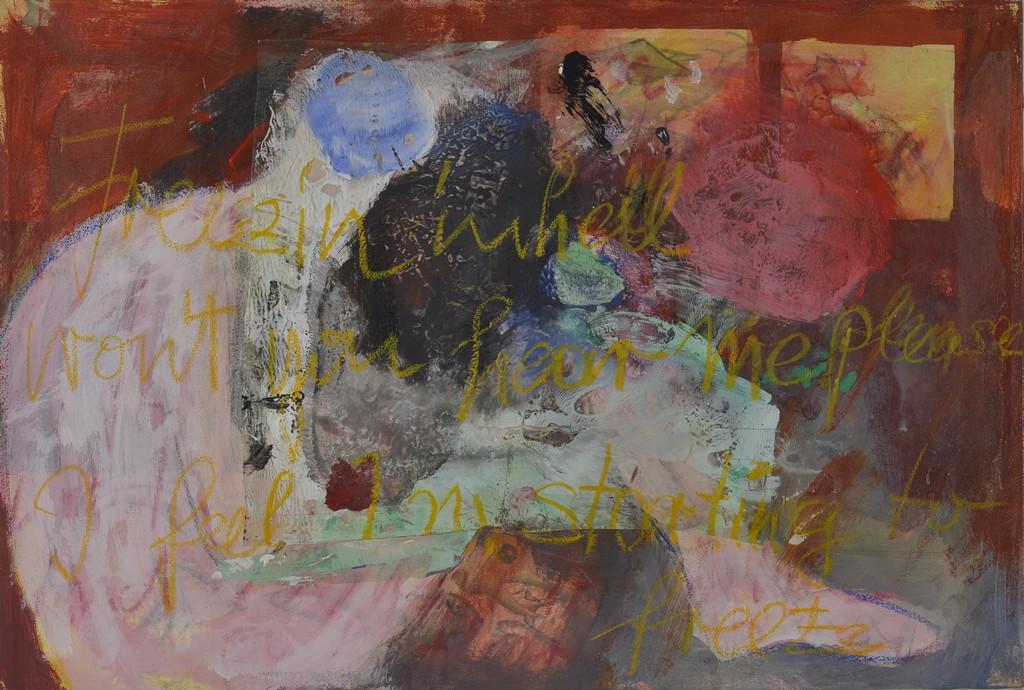 tn_freezin in the hell, Mischtechnik auf Leinwand,Grö0e 50 x 73 cm,2015